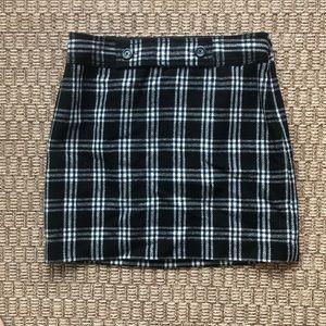 LOFT Wool Plaid Mini Skirt